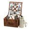 Picnic at Ascot Cheshire English-Style Willow Picnic Basket with Service for 2 w/Coffee Service - London