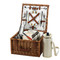 Picnic at Ascot Cheshire English-Style Willow Picnic Basket with Service for 2 w/Coffee Service - Santa Cruz