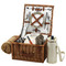 Picnic at Ascot Cheshire English-Style Willow Picnic Basket for 2 w/  Coffee Set and Blanket - London