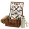 Picnic at Ascot Cheshire English-Style Willow Picnic Basket for 2 w/  Coffee Set and Blanket - Santa Cruz
