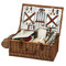 Picnic at Ascot Dorset English-Style Willow Picnic Basket For Four w/ Blanket - Santa Cruz