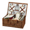 Picnic at Ascot Dorset English-Style Willow Picnic Basket with Service for 4 - Santa Cruz