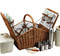 Picnic at Ascot Huntsman English-Style Willow Picnic Basket with Service for 4 w/ Coffee Set - Gazebo