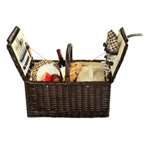 Picnic at Ascot Surrey Willow Picnic Basket with Service for 2 - London