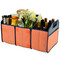 Picnic at Ascot Folding Trunk Organizer - Diamond Orange | James Anthony Collection