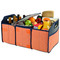 Picnic at Ascot Folding Trunk Organizer w/Cooler - Orange Graphite | James Anthony Collection