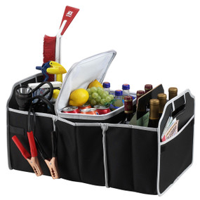 Picnic at Ascot Folding Trunk Organizer w/Cooler - Black | James Anthony Collection