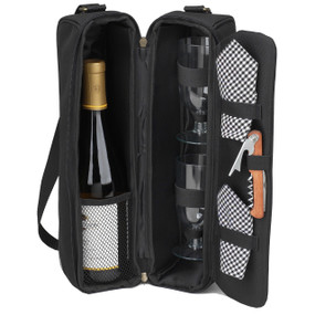 Picnic at Ascot Sunset Wine Tote for 2 - Black | James Anthony Collection