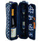 Picnic at Ascot Sunset Wine Tote for 2 - Trellis Blue | James Anthony Collection