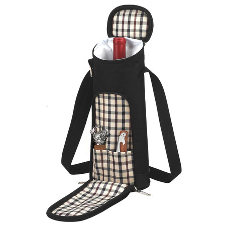 Picnic at Ascot Single Wine Bottle Tote Bag - London | James Anthony Collection