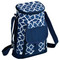 Picnic at Ascot 2 Bottle Wine & Cheese Cooler - Trellis Blue | James Anthony Collection
