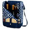 Picnic at Ascot Insulated Wine and Cheese Cooler for 2 - Trellis Blue | James Anthony Collection