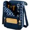 Picnic at Ascot Insulated Wine and Cheese Cooler Tote for 2 - Trellis Blue | James Anthony Collection