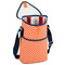 Picnic at Ascot Insulated 2 Bottle Wine Tote w/Shoulder Strap - Diamond Orange | James Anthony Collection