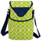 Picnic at Ascot Insulated 2 Bottle Wine Tote w/Shoulder Strap - Trellis Green | James Anthony Collection
