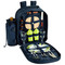 Picnic at Ascot 2 Person Picnic Backpack w/Cooler & Insulated Wine Holder - Trellis Green | James Anthony Collection