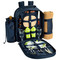 Picnic at Ascot - Deluxe Equipped 2 Person Picnic Backpack w/Cooler, Insulated Wine Holder & Blanket - Trellis Green | James Anthony Collection