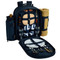 Picnic at Ascot - Deluxe Equipped 2 Person Picnic Backpack w/Cooler, Insulated Wine Holder & Blanket - Chevron | James Anthony Collection