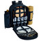 Picnic at Ascot 4 Person Picnic Backpack w/Cooler, Insulated Wine Holder & Blanket - Chevron | James Anthony Collection