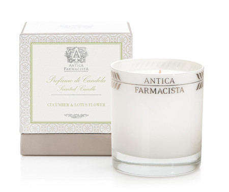 Antica Farmacista Cucumber & Lotus Flower Scented Candle | James Anthony Collection