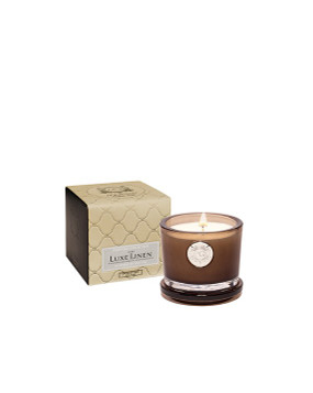 Aquiesse Luxe Linen - Small Soy Boxed Candle