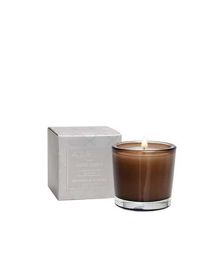 Aquiesse Luxe Linen Votive Candle | James Anthony Collection