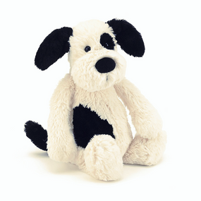 Jellycat Bashful Puppy Black & Cream - Medium | James Anthony Collection
