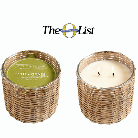 Oprahs 'O Magazine' O Pick List for May 2017 - Hillhouse Naturals Cut Grass Handwoven 2 Wick Candle | James Anthony Collection