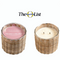 Hillhouse Naturals Peony Blush Handwoven 2 Wick Candle 12oz | James Anthony Collection