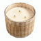 Hillhouse Naturals Belgian Linen Handwoven Candle 3 Wick | James Anthony Collection