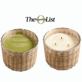 Hillhouse Naturals Cut Grass Handwoven 3 Wick Candle | James Anthony Collection