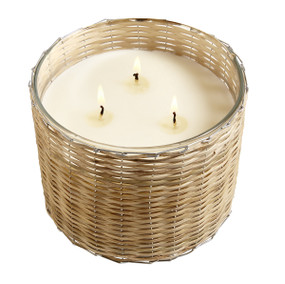 Hillhouse Naturals Grapefruit Persimmon Handwoven Candle 3 Wick | James Anthony Collection