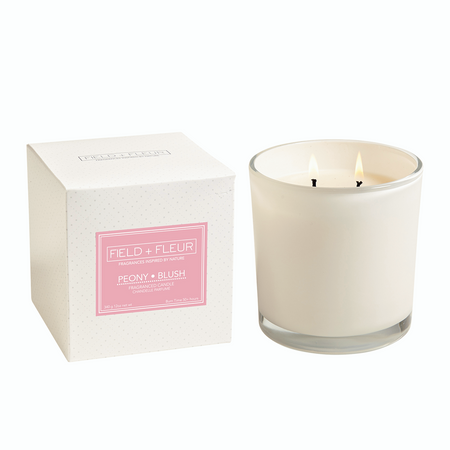 Hillhouse Naturals Peony Blush White 2 Wick Candle | James Anthony Collection