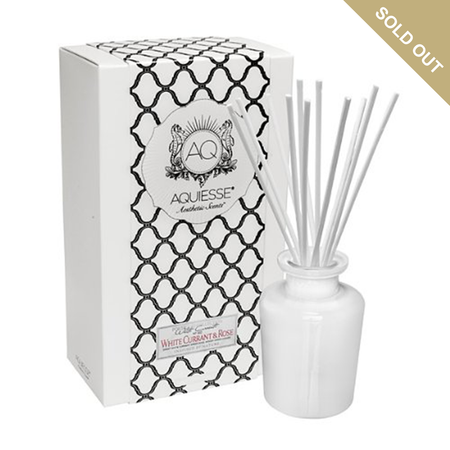 Aquiesse White Currant & Rose - Apothecary Reed Diffuser Gift Set
