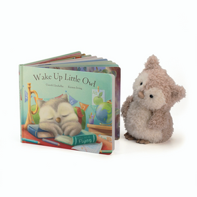 Jellycat Books & Friends - Wake Up Little Owl /w Little Owl | James Anthony Collection