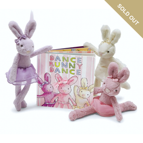 Jellycat Books & Friends - Dance Bunny Dance /w All 3 Tutu Lulu Bunnies | James Anthony Collection