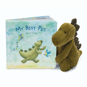 Jellycat Books & Friends - My Best Pet /w Bashful Dino | James Anthony Collection