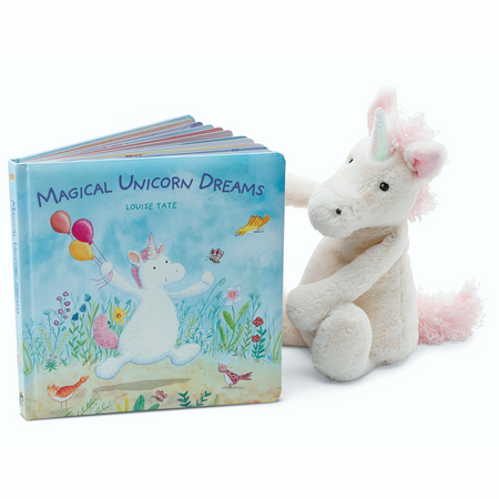 Jellycat Books & Friends - Magical Unicorn Dreams /w Bashful Unicorn | James Anthony Collection