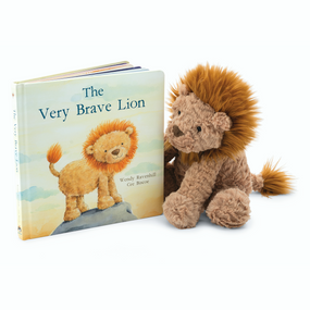 Jellycat Books & Friends - The Very Brave Lion w/ Fuddlewuddle Lion | James Anthony Collection