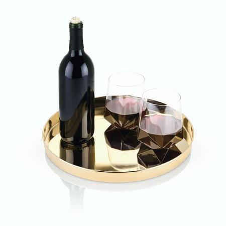 Viski Belmont Gold Serving Tray | James Anthony Collection