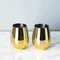 Viski Belmont Gold Stemless Wine Glasses | James Anthony Collection