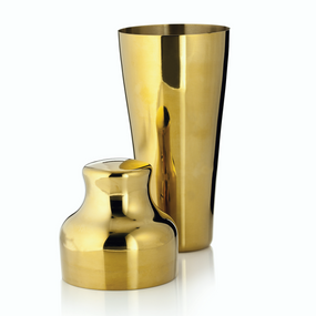 Viski Belmont Gold Cocktail Shaker | James Anthony Collection