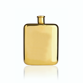 Viski Belmont Gold Plated Flask | James Anthony Collection