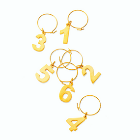 Viski Belmont Gold Plated Wine Charms | James Anthony Collection