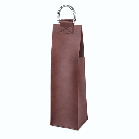 Viski Admiral Brown Wine Tote | James Anthony Collection