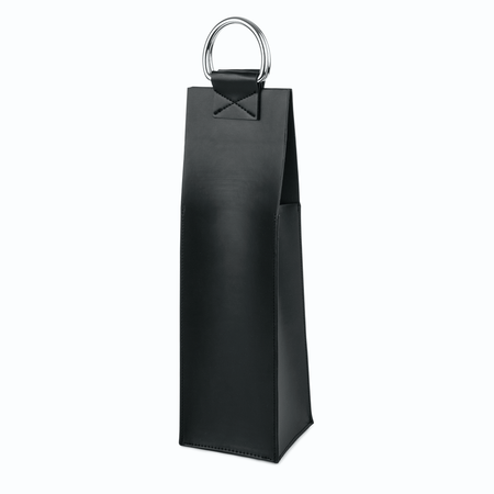 Viski Admiral Faux Leather Black Wine Tote | James Anthony Collection