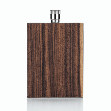 Viski Admiral Rosewood Flask | James Anthony Collection