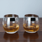 Viski Admiral Chrome Rim Crystal Whisky Tumbler Set | James Anthony Collection