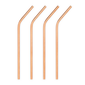 Viski Summit Copper Cocktail Straws | James Anthony Collection