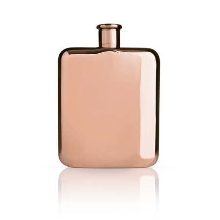Viski Summit Copper Plated Flask | James Anthony Collection